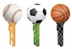 Key blanks molded with soccer football baseball basketball print