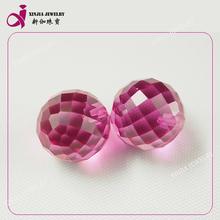venta caliente de corte perfecto sueltas de corindón sintético bolas de ruby perlas facetadas