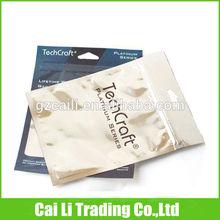 clear front foil back ziploc packaging bag