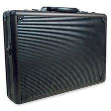 aluminum brief case black wave