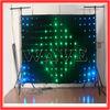 HOT WLK-1P9 Black fireproof Velvet cloth RGB 3 in 1 leds vision flexible led video curtain display
