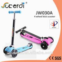 PATENT PRODUCT new folding 4 wheel kids kick scooter wheeler scooter