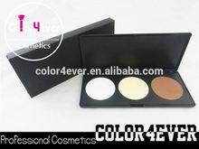Gold supplier Pro 3 Colors Contour foundation Powder makeup Palette Set liquid foundation