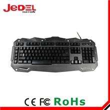 Jedel keyboard manufacturer hot sale USB led gaming keyboard
