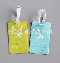 printed pvc airline baggage tag for souvenir