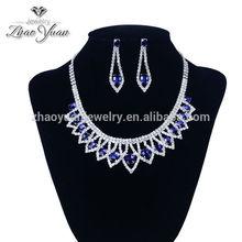 Mode style main pas cher gros bleu cristal bijoux arabie saoudite