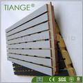 sólido de madera ranurada panel acústico