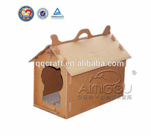 QQ04 durable cardboard dog house & cardboard pet house & cardboard cat house