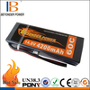 Hard case 9.6v rc car battery 14.8V 4200mAh 60C rc lithium battery pack for RC car, bare leads or deans