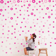 Full House Rose Red+Pink Removable Wall Decals SD1-470101 40x60cm