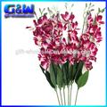 real toque de roxo 28 polegadas de orquídeas por atacado orquídea artificial arranjos de flores para decoração de paredes