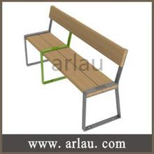 FW212 Outdoor Indoor Wooden Metal Public Seating Bench Seat