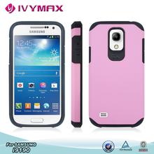 hybrid material cute pink slim armor hard case for samsung galaxy s4 mini