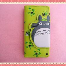 Hot Anime Totoro Cartoon Wallet PU leather Magnetic Buckle Zipper wallet girls Clutch Bags