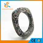 Fashion jewelry factory Pearls inside style Square cuff bangles latest ladies fashion bracelets
