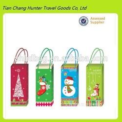wholesale 2014 wine bottle bag paper christmas gift bags