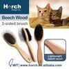 Comfortable user friendly wood handle soft pet dog hand brush