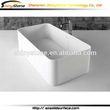 High-end hand work Solid surface bathtub/ free standing massage bathub