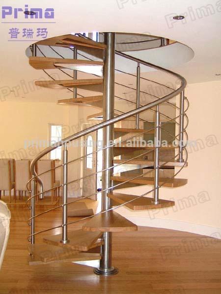 인테리어 나무 나선형 계단 디자인 와이어 난간-계단 -상품 ID ...