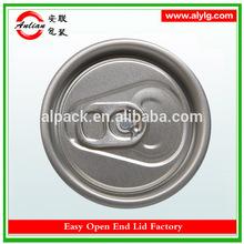 alibaba venta caliente más nuevo estilo de aluminio bebida gaseosa de fácil extremo abierto