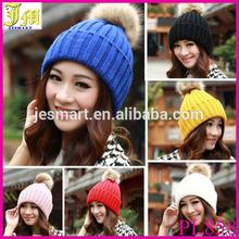 2014 Hot Women's Winter Warm Crochet Knitting Hats Beret Ski Beanie Ball Caps Hats