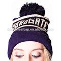 de alta calidad de mujer de invierno sombreros de punto jacquard con gorros bola superior