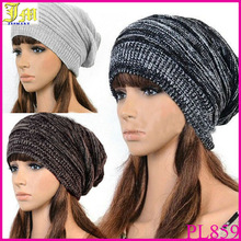 Hot Fashion New Unisex Mens Womens Winter Knit Plicate Slouch Cap Hat Knitted Skullies Beanies Casual Black/Gray/Coffee