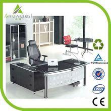 Excellent workmanship solid modern executive glass office desk