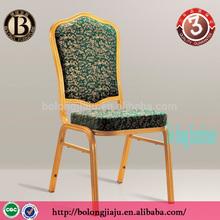 BL-55011 Gold Aluminum Green flower Fabrie banquet chair