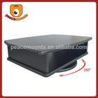 High gloss spray paint Rotating MDF latest design of wood furniture modern corner tv cabinet