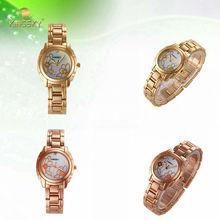 2014 kingsky B8-01 cheap fancy gold plated flower lady wrist watch
