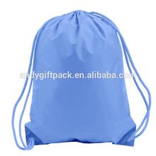 Wholesale light blue custom drawstring backpack