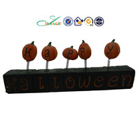 bobbled pumkin and happy halloween sign, halloween resin crafts