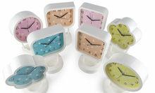 Children square plastic desk clock wall clocks funny designs CC081