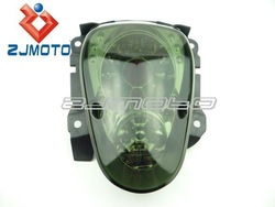 Cool Fashion Motorcycle 12V LED Black Color Taillight Brake Light With License Plate Lamp and Reflector For Scoopy