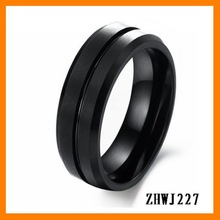 2014 new fashion punk Men's vintage style streamline tungsten steel rings