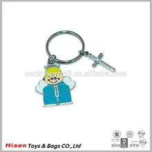 cute angel shape metal key chain ring gifts,metal rings for keys