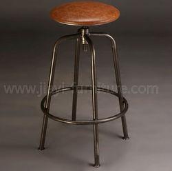 Bronze color metal mateiral unique antique bar stool for stool bar furntiure