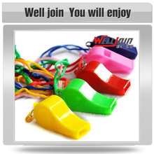 Plastic whistle with lanyard,colorful plastic whistle