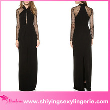 New Design Wholesale Black Long Draped Maxi fashion elegant without dress sexy girls photo