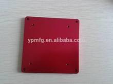 Red anodizing precision cover custom cnc aluminum parts