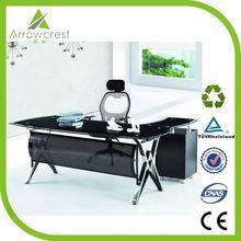 Eco Waterproof deluxe glass computer standing desk