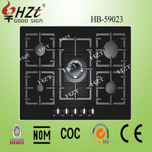 2015 tempered glass top big gas stove built in gas cook top