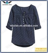 Custom made woman fashion t shirt cute dot top