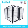 wire mesh deluxe dog puppy dog cage carrier crate in gold
