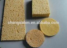 2014 Top Seller Natural Cellulose Sponge Manufacturer purple color latex free cellulose cosmetic sponge