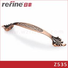 Antique copper drawer door pull handle