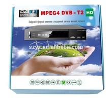 Sweden Super Mini Plastic dvb-t2 decoder MSD7802 OEM/ODM 2014 hd fta dvb-t2 receiver