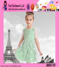Europe Hot Sale Princess Lace Dress Wholesale Short Sleeve One Piece Fashion Pictures Of Baby Dress