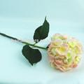 puro hecho a mano de seda artificial artificial flores hortensia venta al por mayor